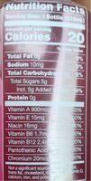 Probiotic water - Voedingswaarden - en