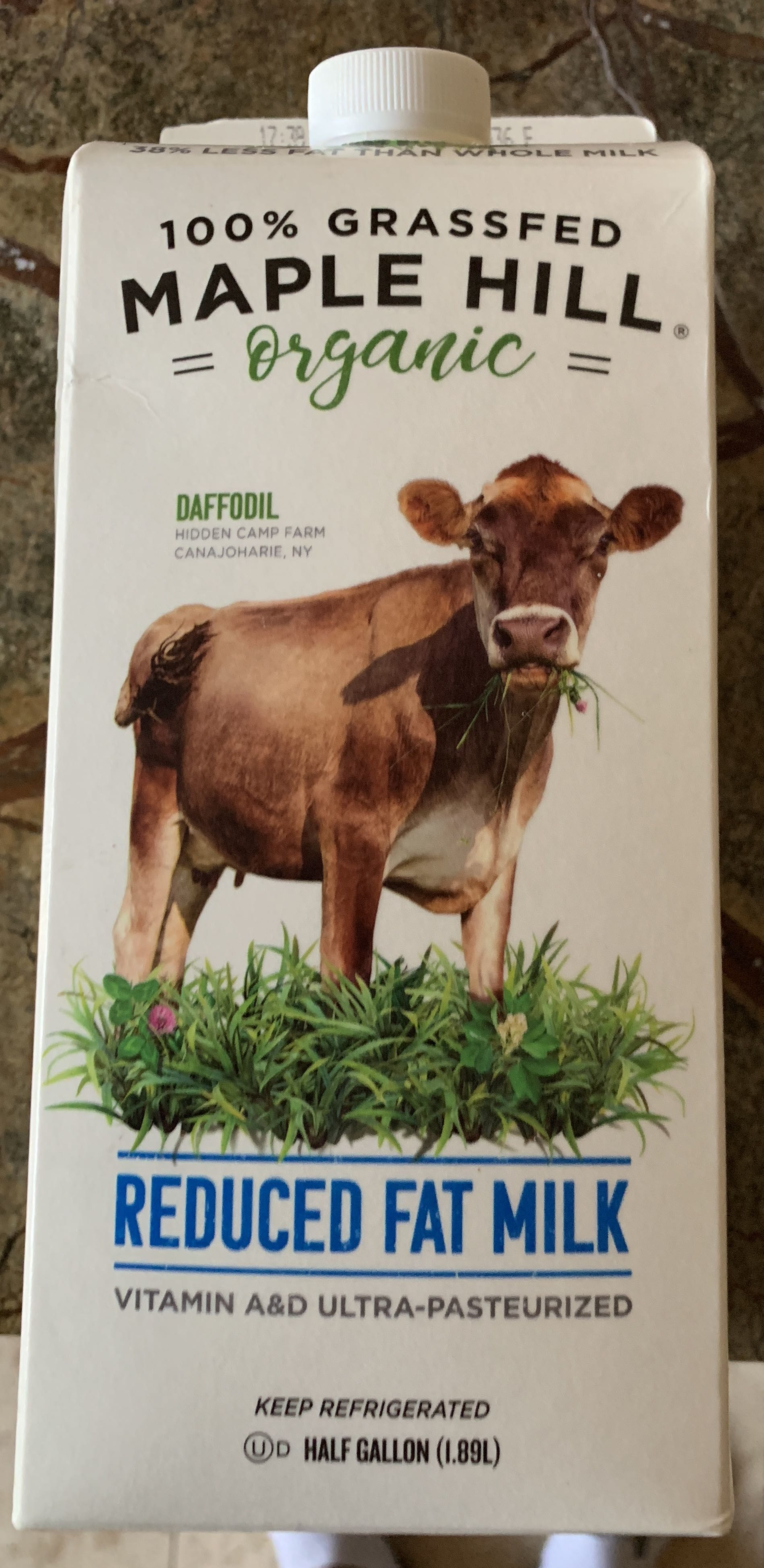 Daffodil 100% grassfed reduced fat milk, daffodil - Product - en