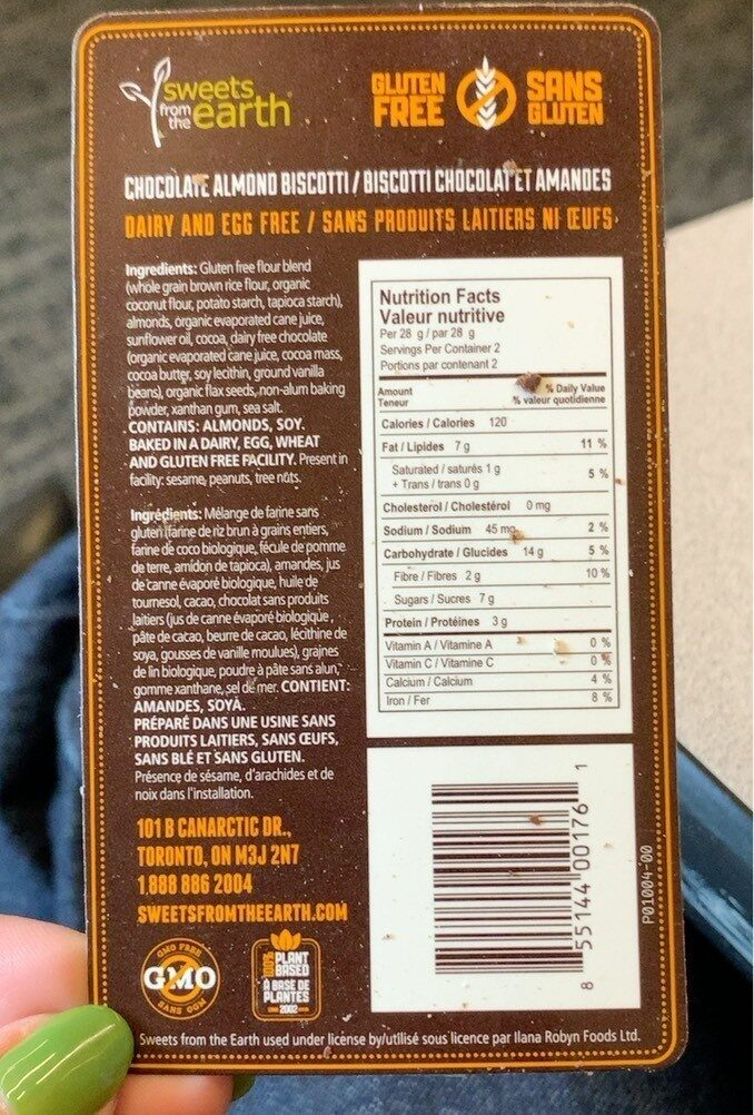 Chocolate Almond Biscotti - Product - fr