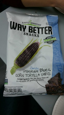 Way Better Snacks Simply Unbeatable Blues Tortilla Chips - Product