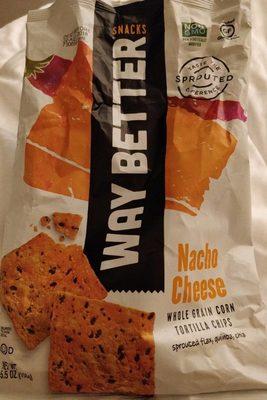 Nacho cheese whole grain corn tortilla chips - Produit