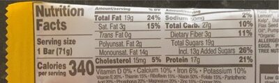 Perfect foods bar peanut butter - Nutrition facts