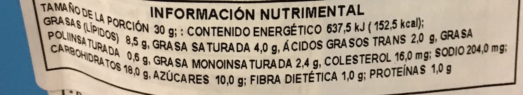Popcorn Thins - Nutrition facts