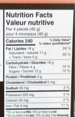 Chocolate Dark Pink Salt - Informations nutritionnelles - fr