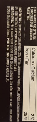 Dark Chocolate 82% - Ingredients