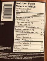 Chocolat noir Éclats de cacao - Nutrition facts - fr