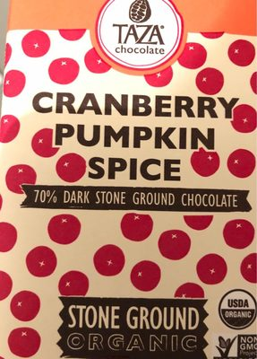 Organic Stone Ground Chocolate, Cranberry Pumpkin Spice - Product