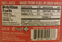 Apple Cider - Nutrition facts
