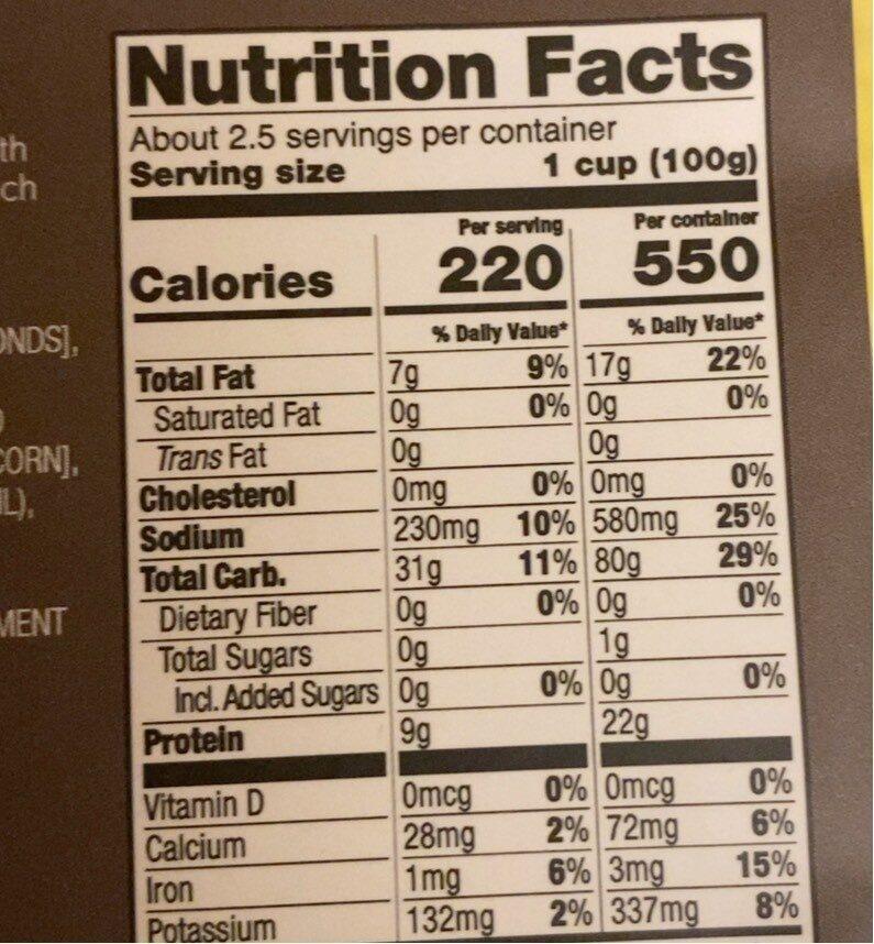 Spinach ravioli - Nutrition facts - en