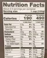 Mushroom and ricotta ravioli - Nutrition facts - en