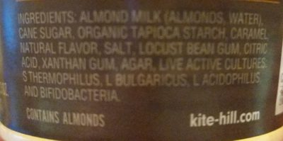 Artisan almond milk yogurt, caramel - Ingredients - en