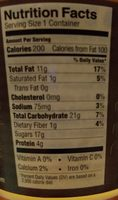 Artisan almond milk yogurt, caramel - Nutrition facts - en