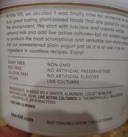 kite Hill plain unsweetened - Ingredients