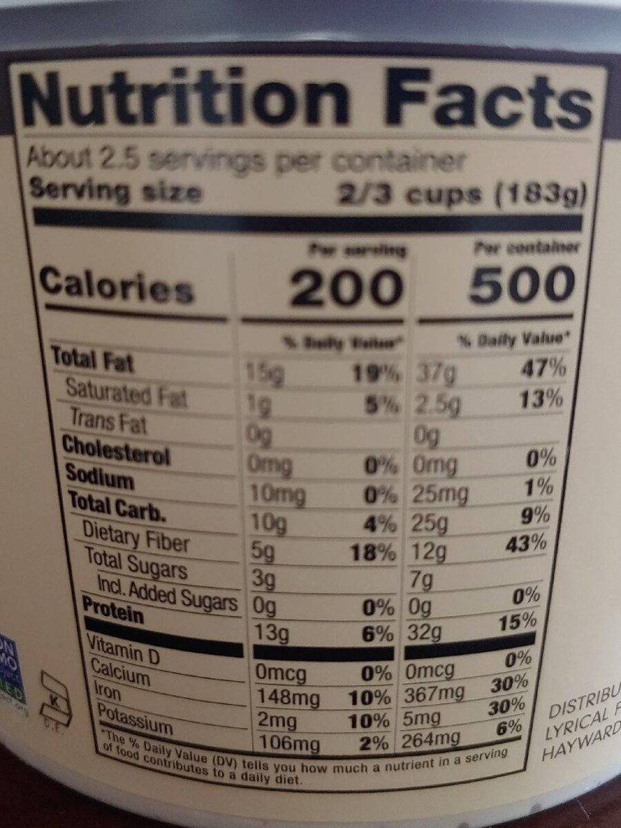 Vanilla almond milk Greek style yogurt - Nutrition facts - en
