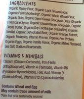 Organic Smart Cookies, Orange Chocolate Beet - Ingrediënten - en