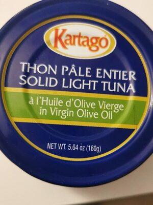 Thon pâle entier à l'huile d'olive vierge - Produit - fr