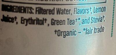 Iced green tea rasberry - Ingredients