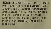 Simmer sauce, moroccan - Ingrédients - en