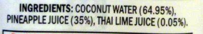 Coconut Water - Pineapple - Ingredients - en
