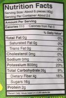 Organic original chewy banana bites - Nutrition facts - en