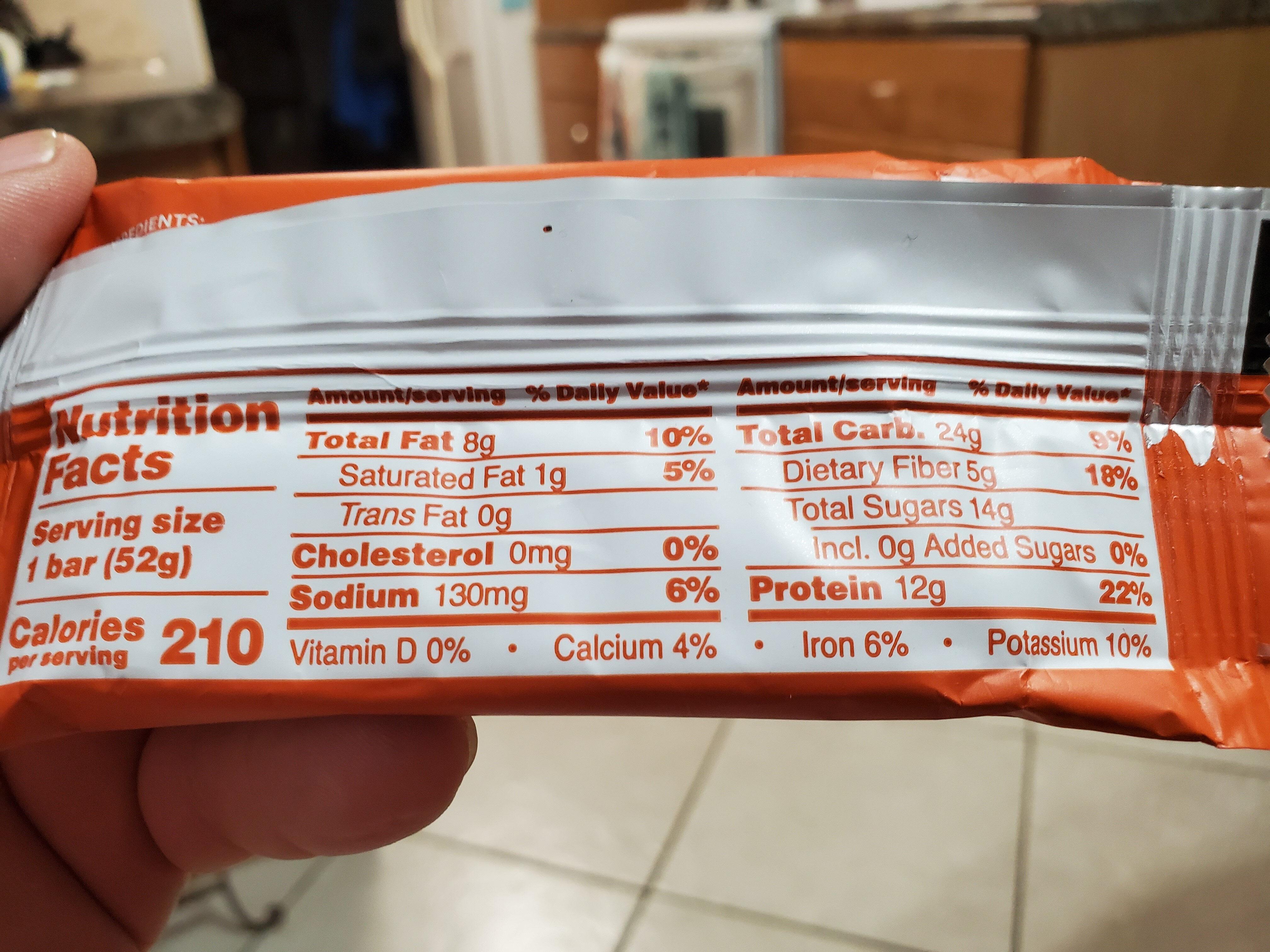Pumpkin Spice Protein Bar - Nutrition facts - en