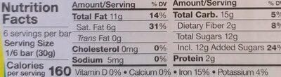Chocolate, Dark with Pecan Coconut - Nutrition facts - en
