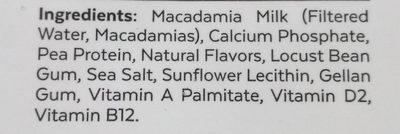 Milk macadamia unsweetned - Ingredients