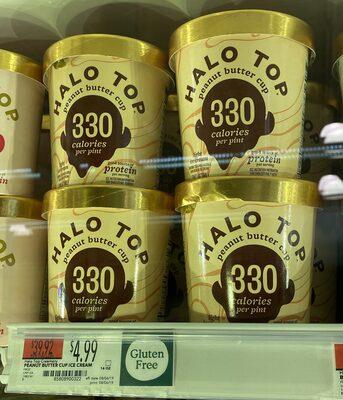 Peanut butter cup light ice cream, peanut butter cup - Product - en
