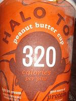 Peanut butter cup light ice cream, peanut butter cup - Nutrition facts - en