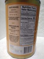 Pinto Beans - Valori nutrizionali - en