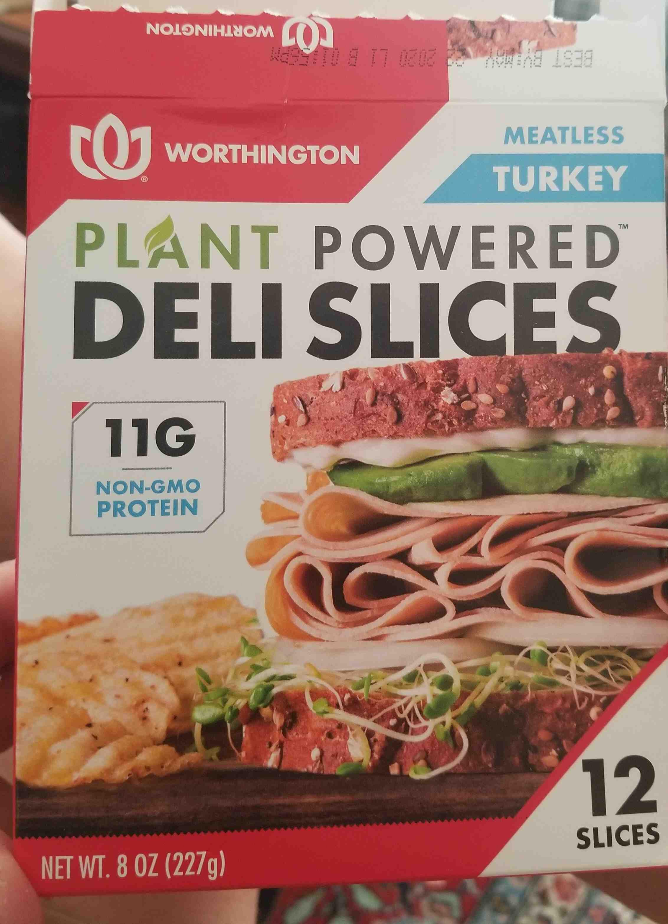 Meatless turkey deli slices, turkey - Product - en