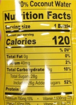 Tropical punch sports drink - Nutrition facts - en