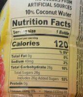 Berry lemonade sports drink - Voedingswaarden - en
