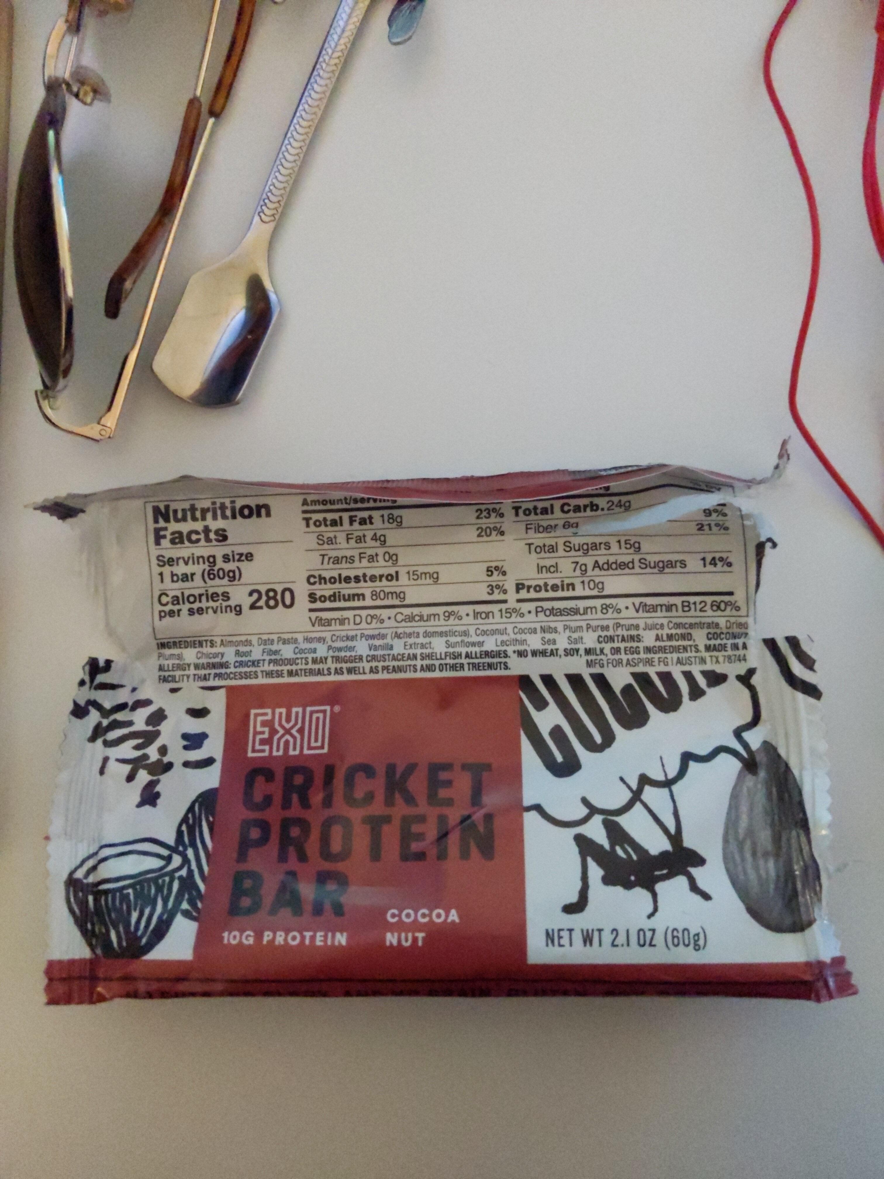 EXO Cricket Protein Bar Cocoa Nut - Ingredients - en