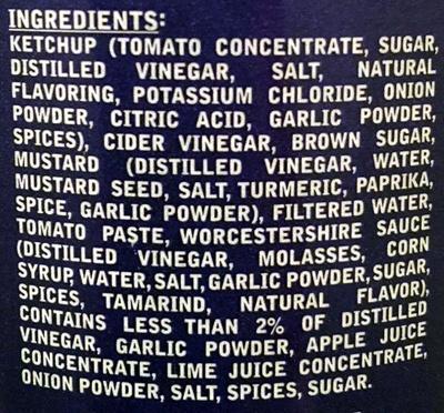 Carolina Sauce - Ingredients