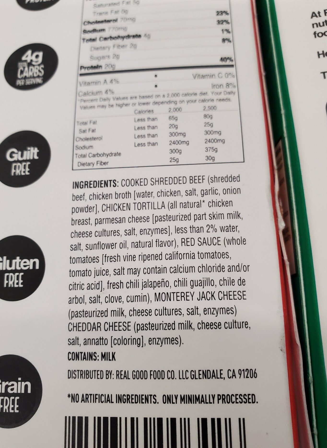 Beef enchiladas - Ingredients - en