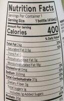 Meal replacement drink - Nutrition facts - en