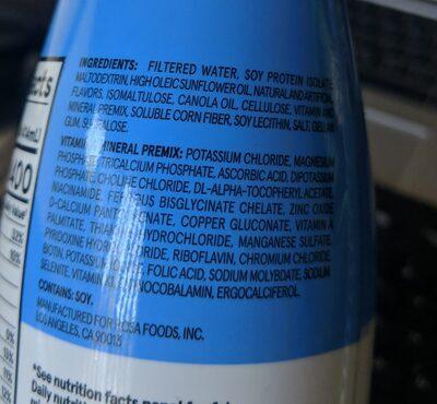 Soylent vanilla - Ingredients - en