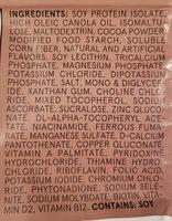 Powder v1.9 - Cacao - Ingrédients - en