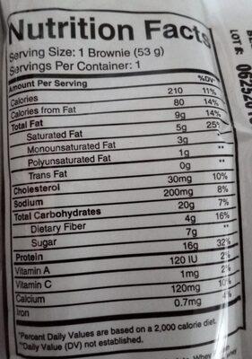 Brownie Protéiné Caramel - Nutrition facts - en