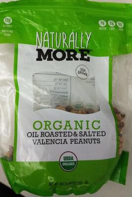 Organic oil roasted & salted Valencia peanuts - Produit - en