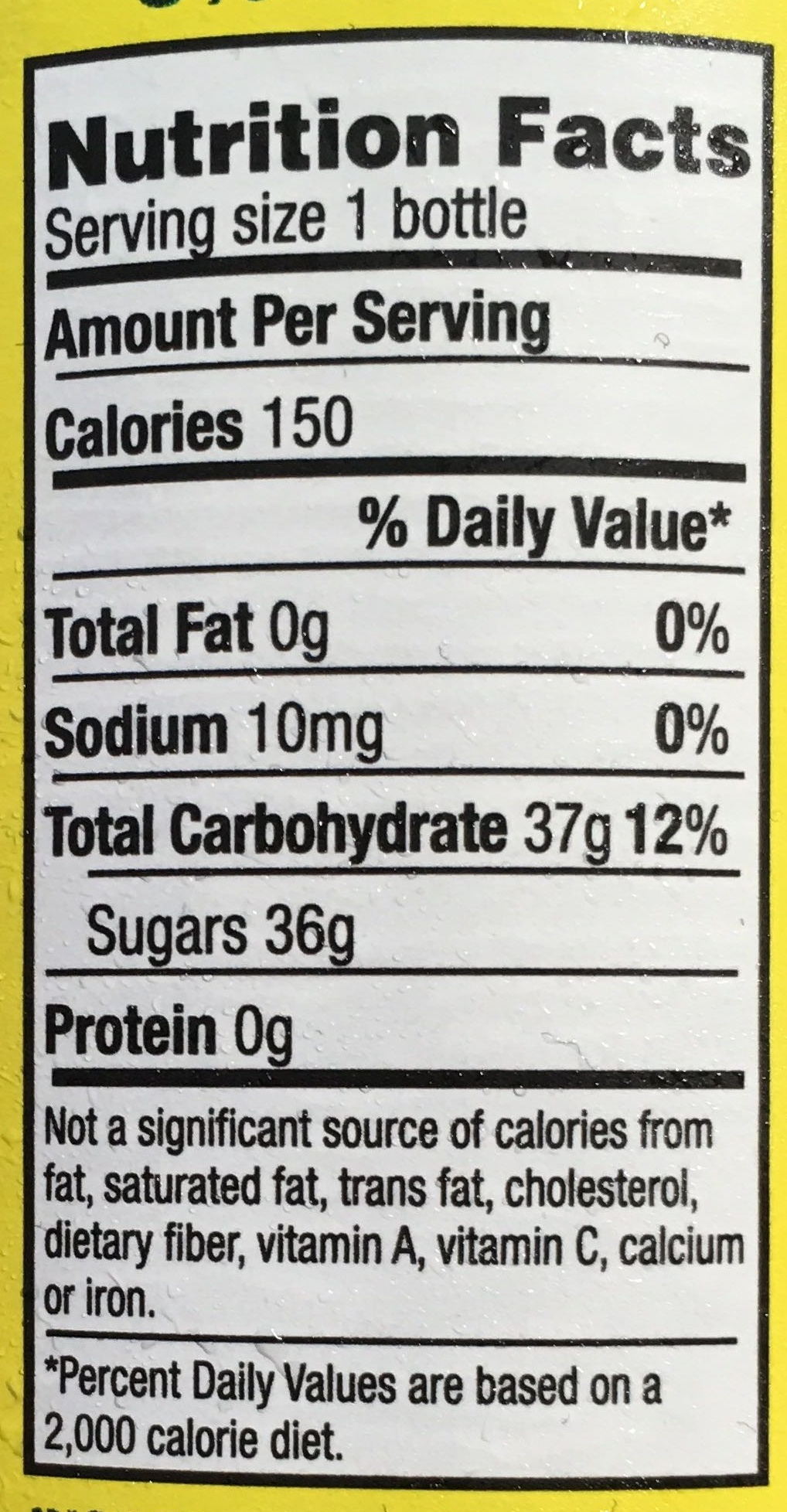 Ting - Nutrition facts