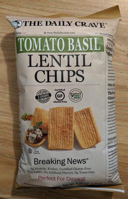 Tomato basil flavored lentil chips, tomato basil - Product - en