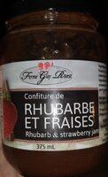 Confiture Rhubarbe et Fraises - Produit - fr