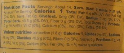 Green Tea Mints - Nutrition facts - en