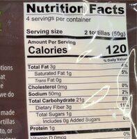 Mikey's tortillas - Nutrition facts - en