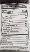 Organic Cacao Powder - Nutrition facts