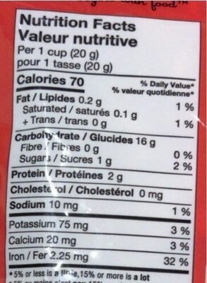 Toodle O's Pomme - Valori nutrizionali - fr