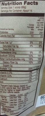 Hi - protein Pancake & Baking Mix - Nutrition facts - en