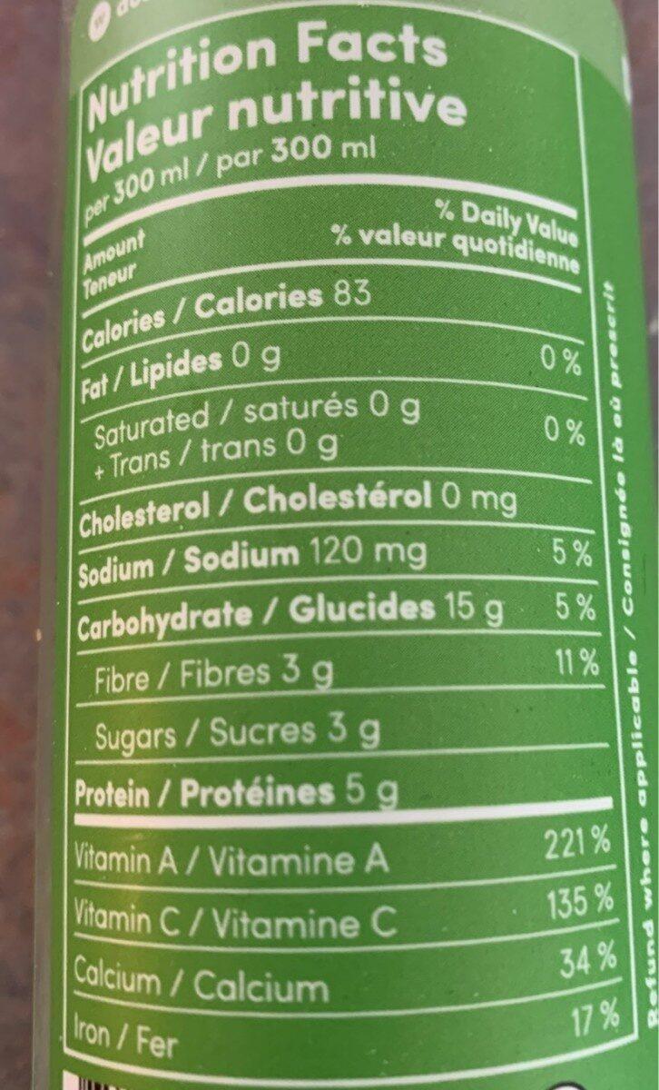Yogi - Nutrition facts - fr